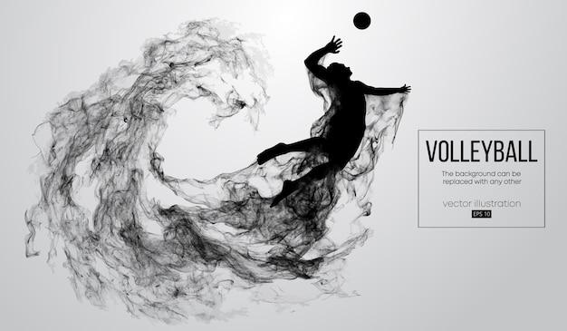 Silhueta abstrata de uma ilustração de homem de jogador de voleibol
