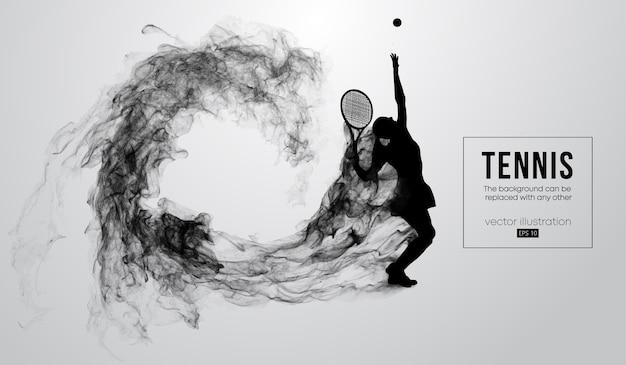 Silhueta abstrata de uma ilustração de mulher jogadora de tênis