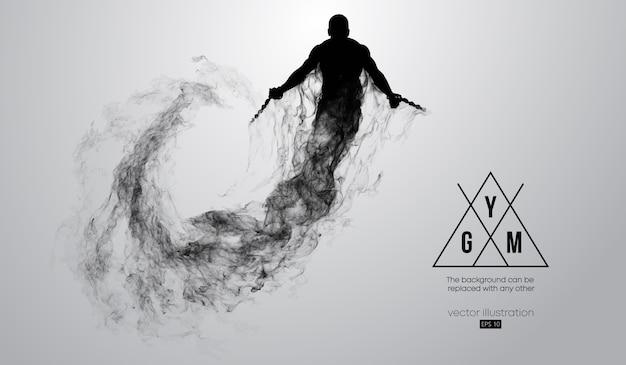 Silhueta abstrata de uma ilustração de um fisiculturista