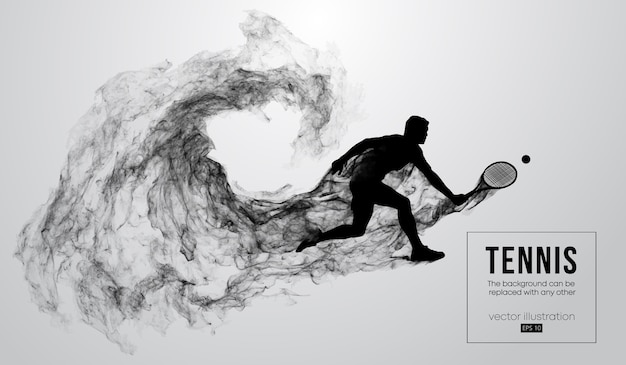 Silhueta abstrata de uma ilustração de um jogador de tênis