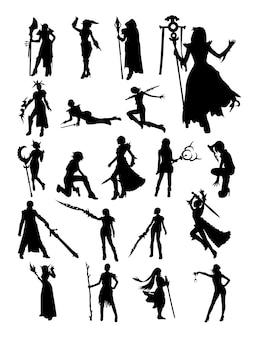 Silhueta cosplay