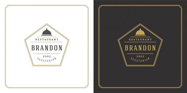 Silhueta da bandeja do prato do logotipo do restaurante boa para o menu do restaurante