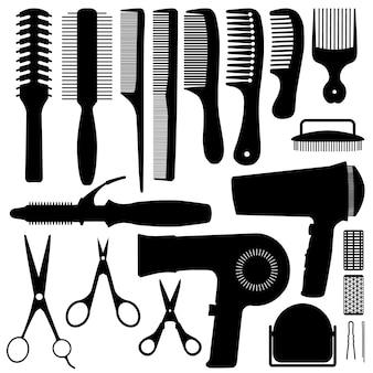 Silhueta de acessórios de cabelo