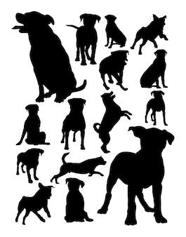 Silhueta de animais cão rottweiler