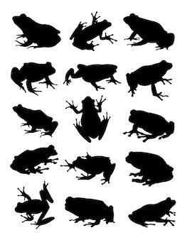Silhueta de animal rã