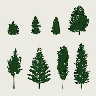 Silhueta de árvore