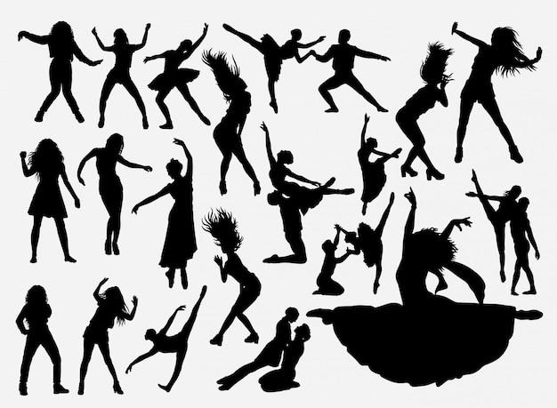 Silhueta de atividade de dança