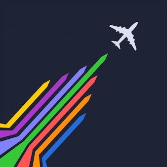 Silhueta de avião
