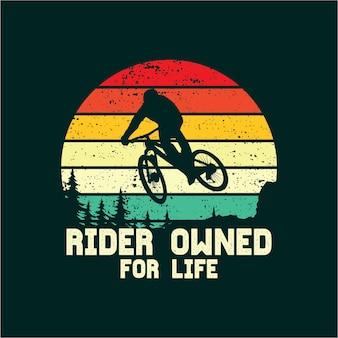 Silhueta de bicicleta