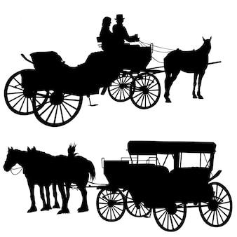 Silhueta de carruagem