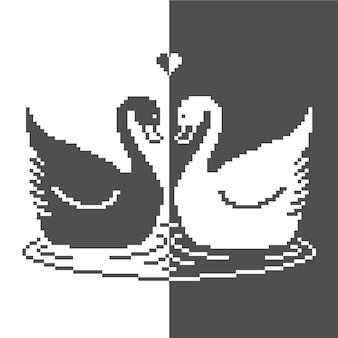 Silhueta de cisne