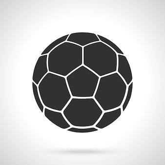 Silhueta de couro bola de futebol equipamento desportivo ilustração vetorial