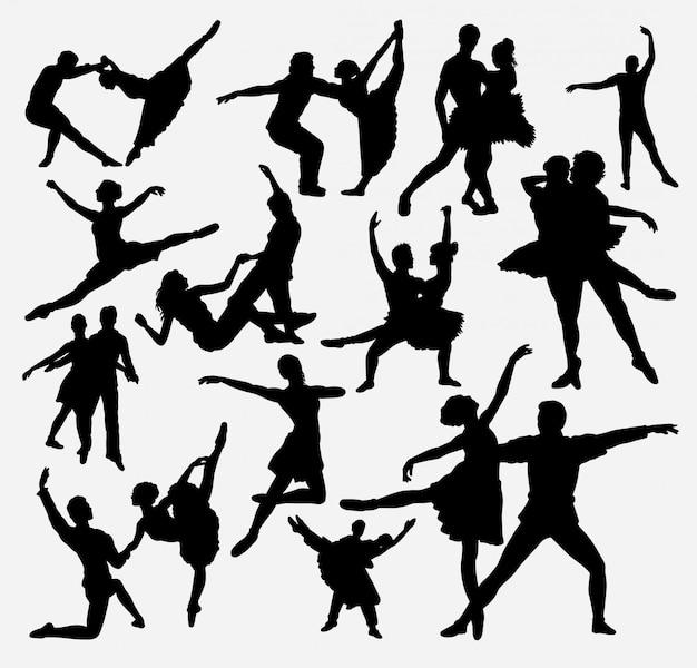 Silhueta de dança de bailarina