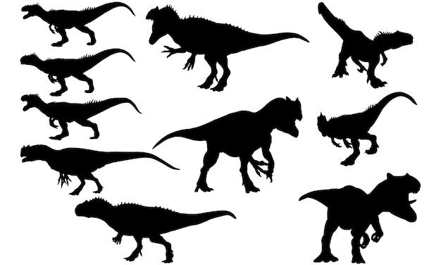 Silhueta de dinossauro tiranossauro