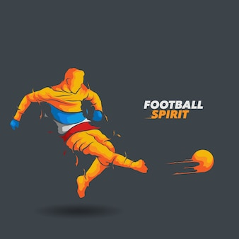 Silhueta de espírito de futebol