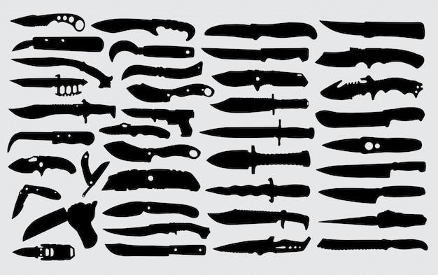 Silhueta de faca