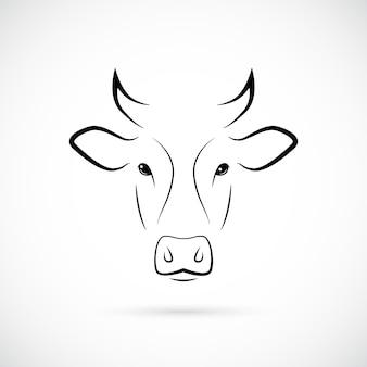 Silhueta de focinho de vaca ícone de linha de mamíferos