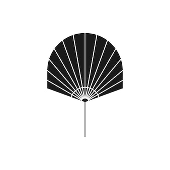 Silhueta de folha de palmeira seca em estilo simples. ícone de folha tropical do vetor. ilustração de boho para criar logotipo, padrão, estampas de camisetas, design de tatuagem, postagem em mídia social e histórias