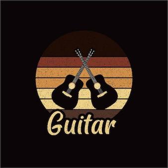 Silhueta de guitarra