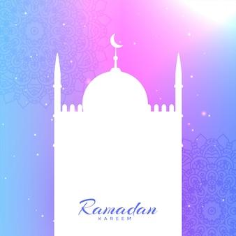 Silhueta de mesquita com espaço de texto para ramadan kareem