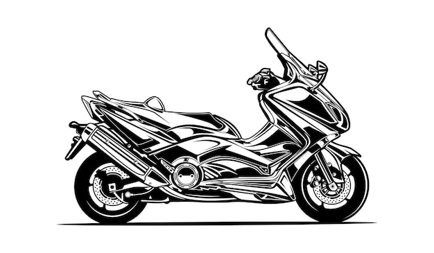 Silhueta de motocicleta