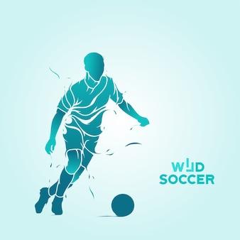 Silhueta de respingo de futebol selvagem
