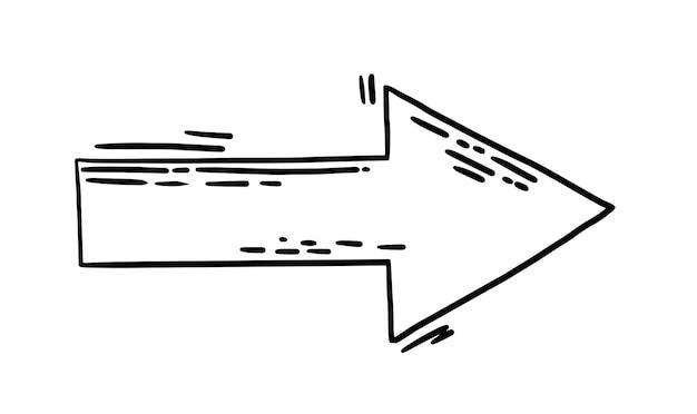 Silhueta de seta voadora de vetor rabisco em alta velocidade