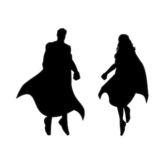 Silhueta de super-heróis