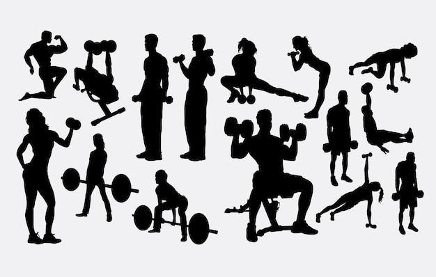 Silhueta de treino de fitness