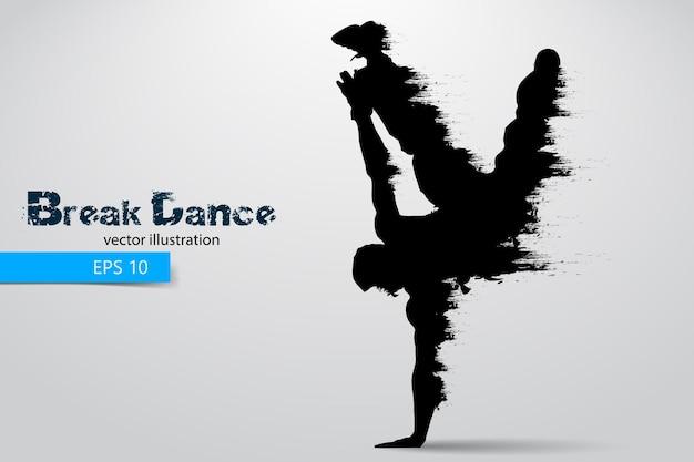 Silhueta de um dançarino de break