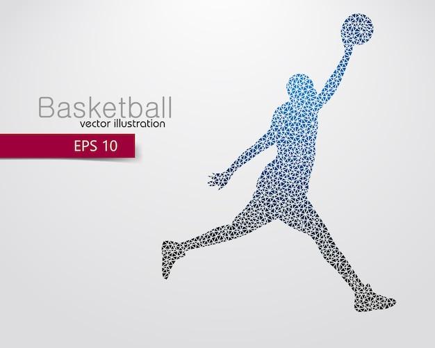 Silhueta de um jogador de basquete