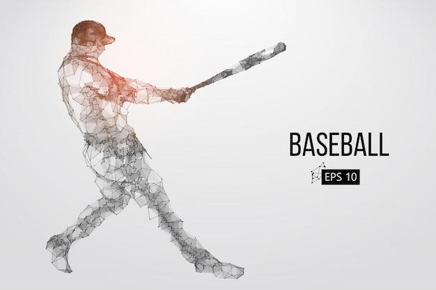 Silhueta de um jogador de beisebol. ilustração vetorial