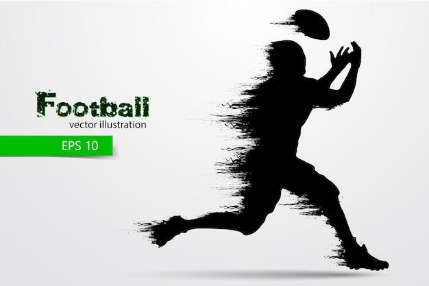 Silhueta de um jogador de futebol. rugby. futebol americano. ilustração