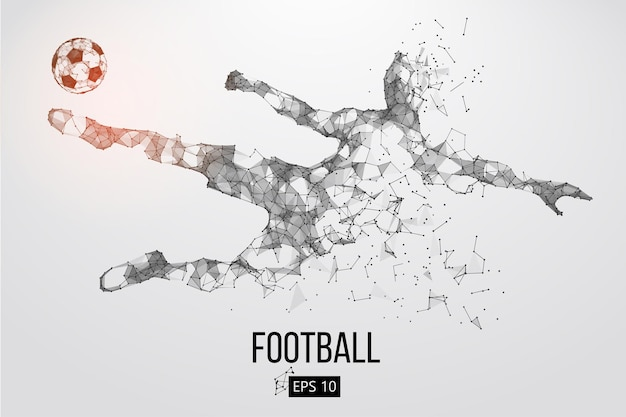 Silhueta de um jogador de futebol