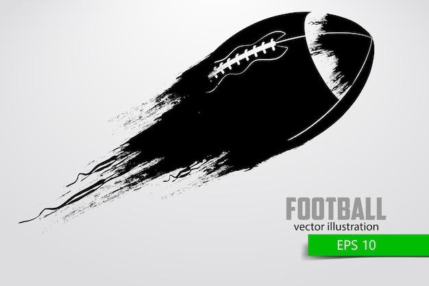 Silhueta de uma bola de futebol. rugby. futebol americano. ilustração