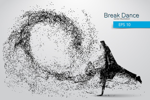 Silhueta de uma dançarina de break