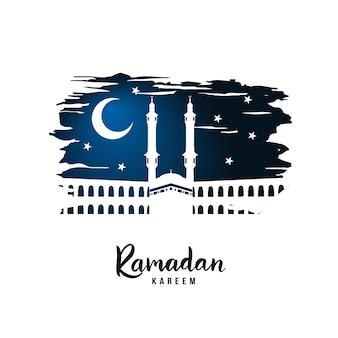 Silhueta de uma mesquita em uma noite sagrada