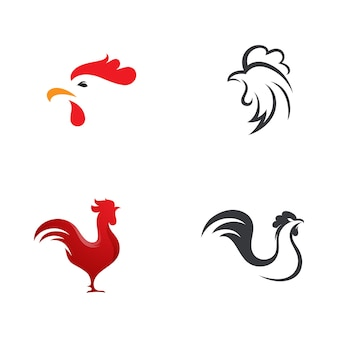 Silhueta do galo vector ícone ilustração design