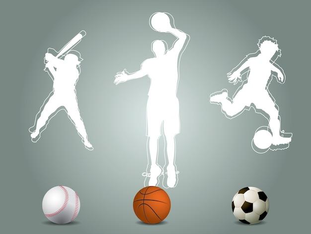 Silhueta do jogador desportivo