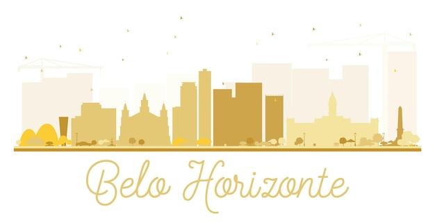 Silhueta dourada do horizonte da cidade de belo horizonte. ilustração vetorial. conceito simples e plano para apresentação de turismo, banner, cartaz ou web. conceito de viagens de negócios. paisagem urbana com pontos de referência