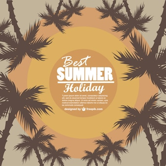 Silhueta férias de verão