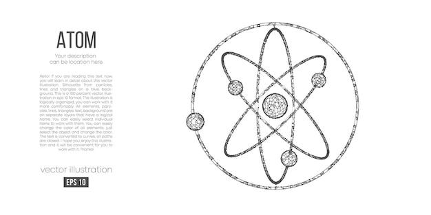 Silhueta poligonal abstrata de átomos