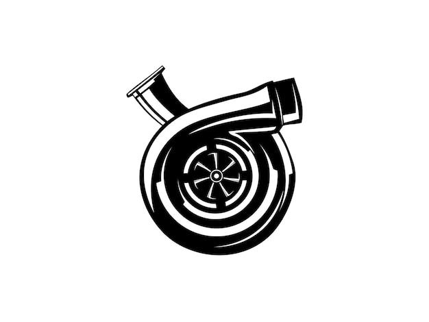 Silhueta turbo em preto e branco