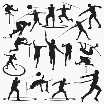 Silhuetas atléticas