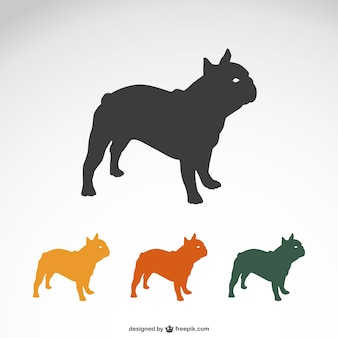 Silhuetas bulldog