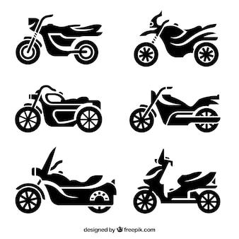Silhuetas da motocicleta