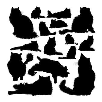 Silhuetas de animais gato ragdoll