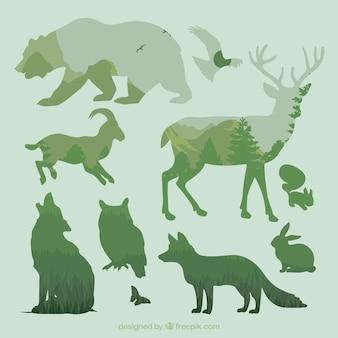 Silhuetas de animais