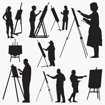 Silhuetas de artistas