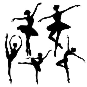 Silhuetas de balé